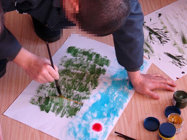 艺术治疗应用自闭症